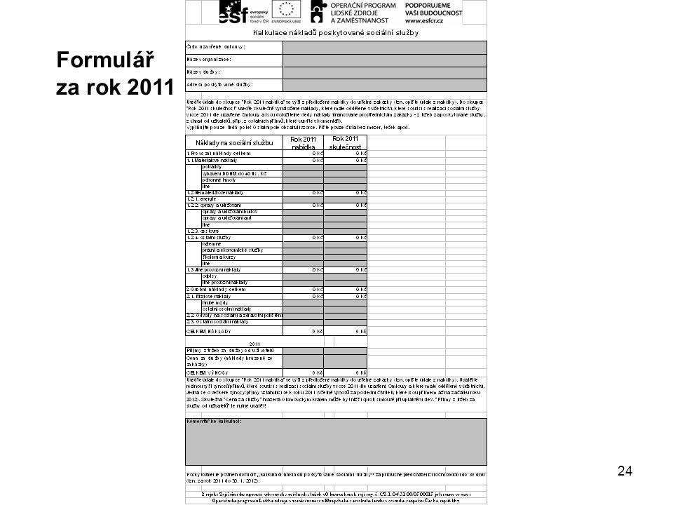 24 Formulář za rok 2011