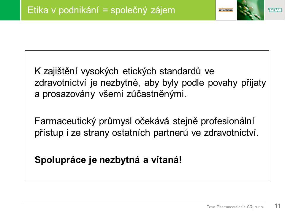 11 Teva Pharmaceuticals CR, s.r.o.