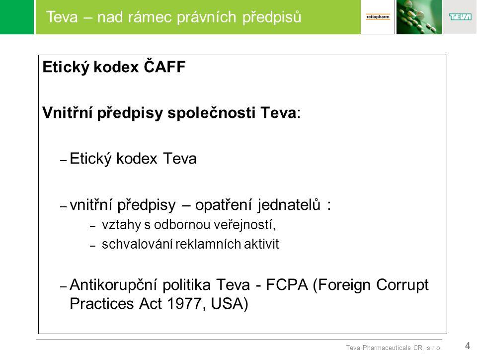 4 Teva Pharmaceuticals CR, s.r.o.
