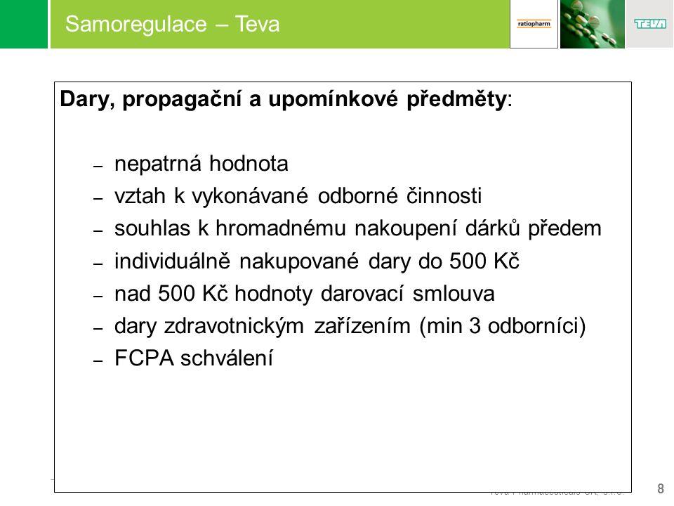8 Teva Pharmaceuticals CR, s.r.o.