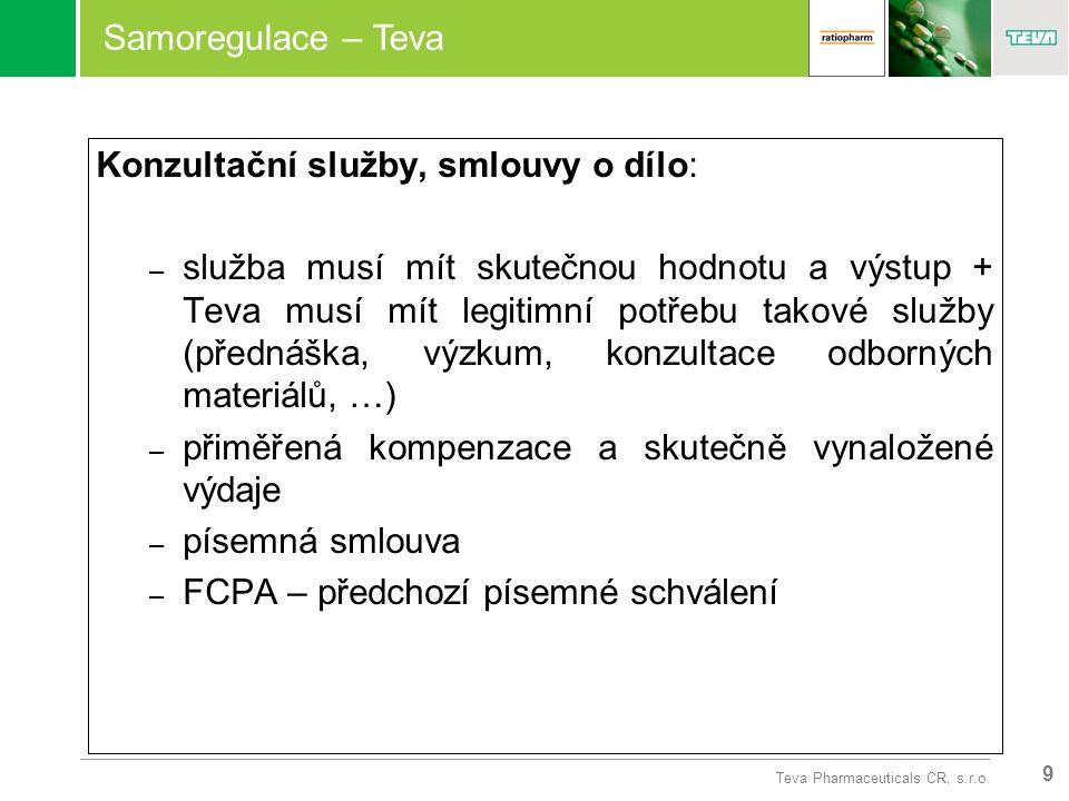 9 Teva Pharmaceuticals CR, s.r.o.