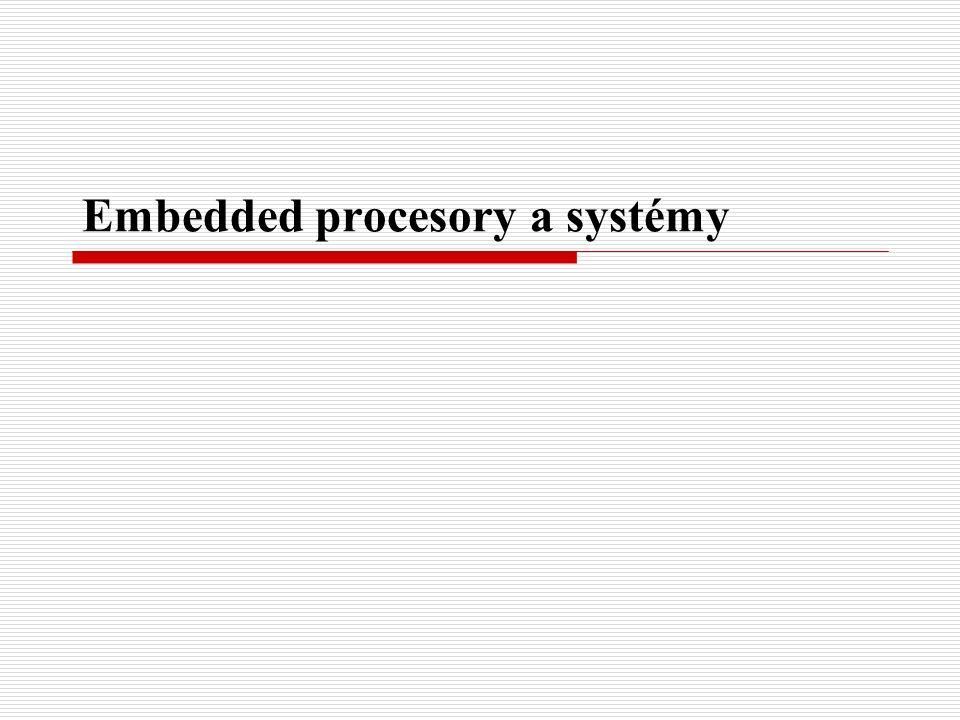 Vestavěné testy Většina vestavných systémů má určité množství vestavěných testů, které se provádí samočinně.