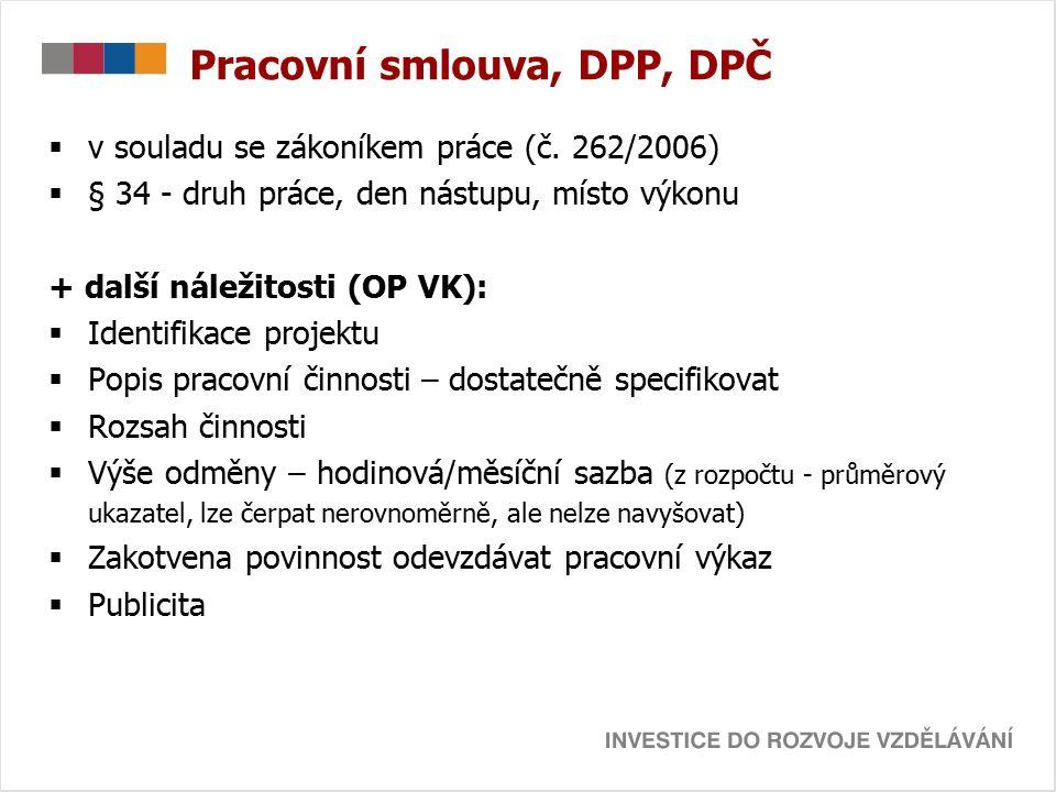 Pracovní smlouva, DPP, DPČ  v souladu se zákoníkem práce (č.
