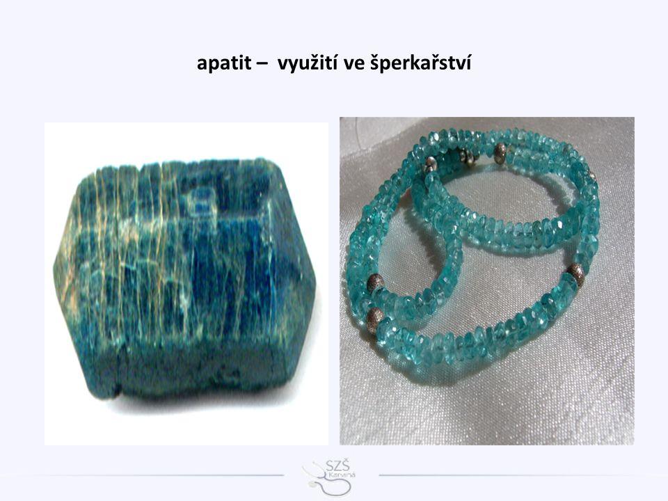 apatit – využití ve šperkařství
