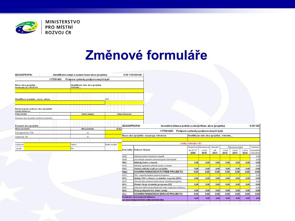 Změnové formuláře