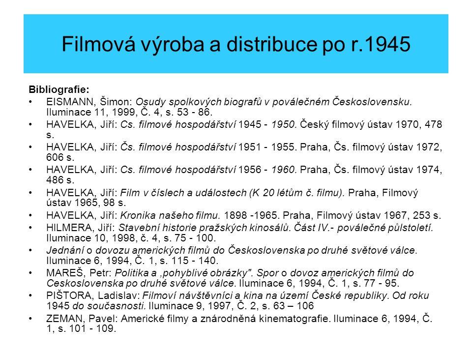 Celovečerní filmy povolené k promítání r.