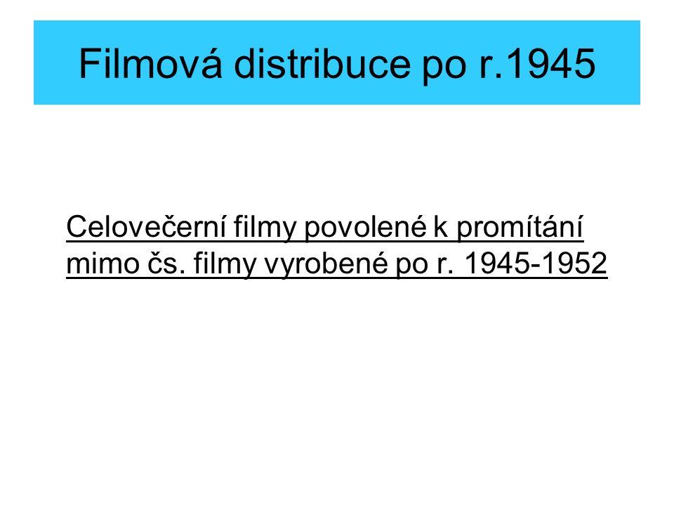 Celovečerní filmy povolené k promítání mimo čs.filmy vyrobené po r.
