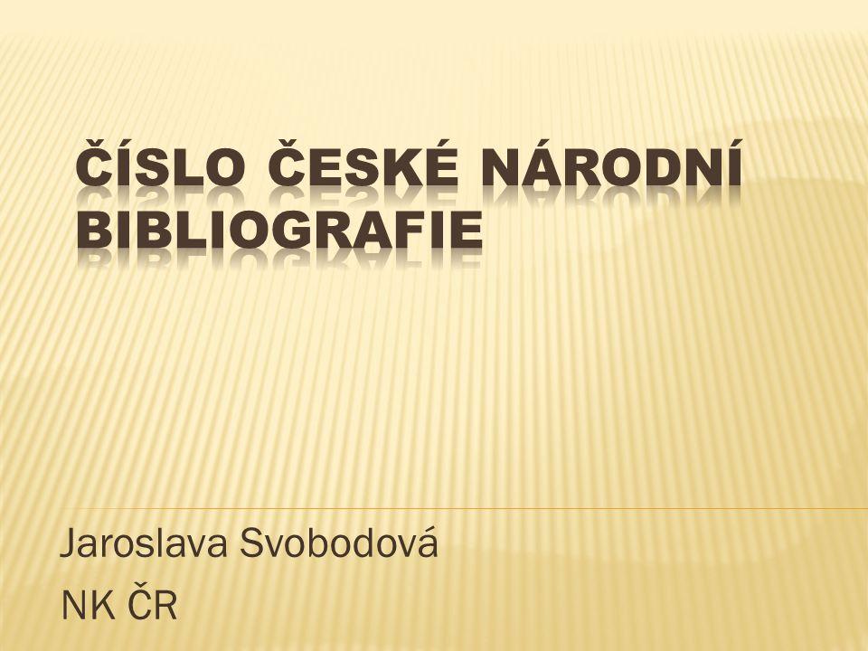 Jaroslava Svobodová NK ČR