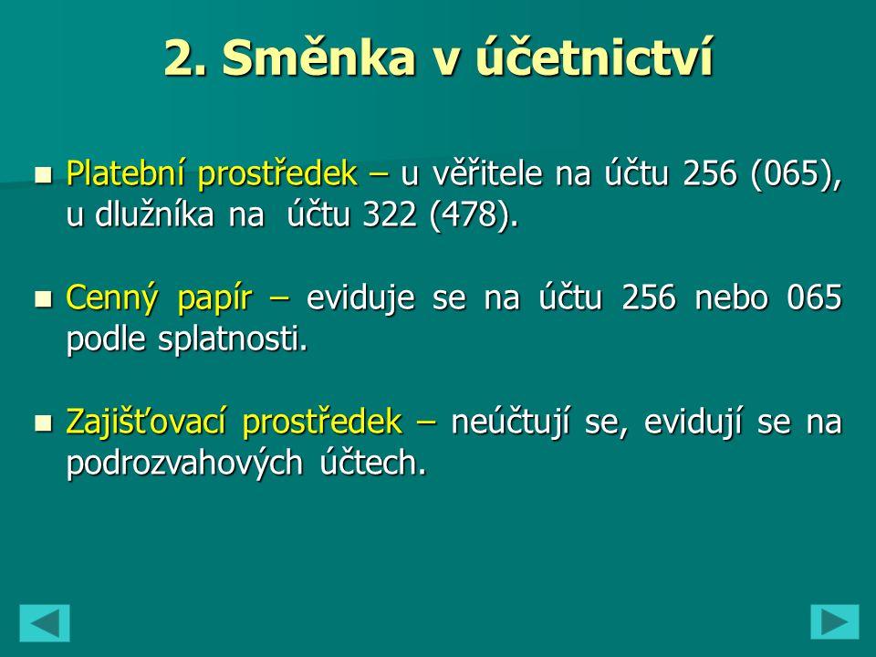 6..Tržby 311 – Odběratelé 256/1 – Dluhové CP 221 – B.
