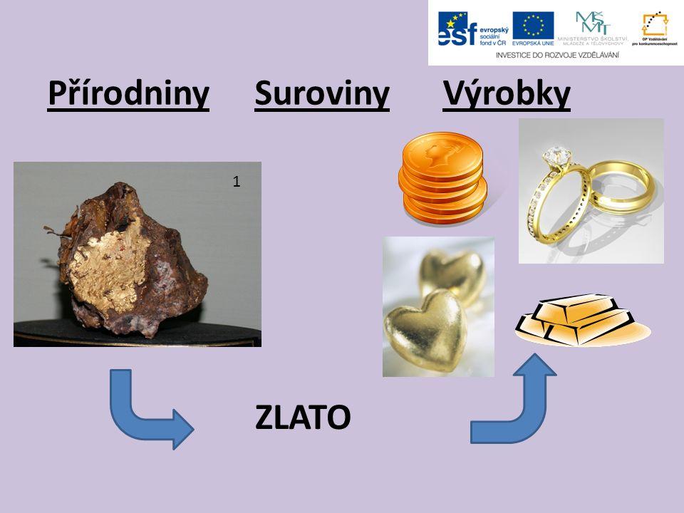 Přírodniny Suroviny Výrobky ZLATO 1