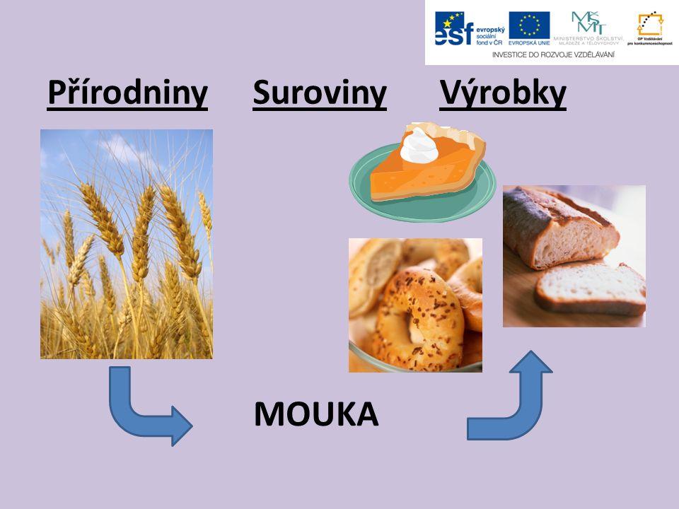 Přírodniny Suroviny Výrobky MOUKA