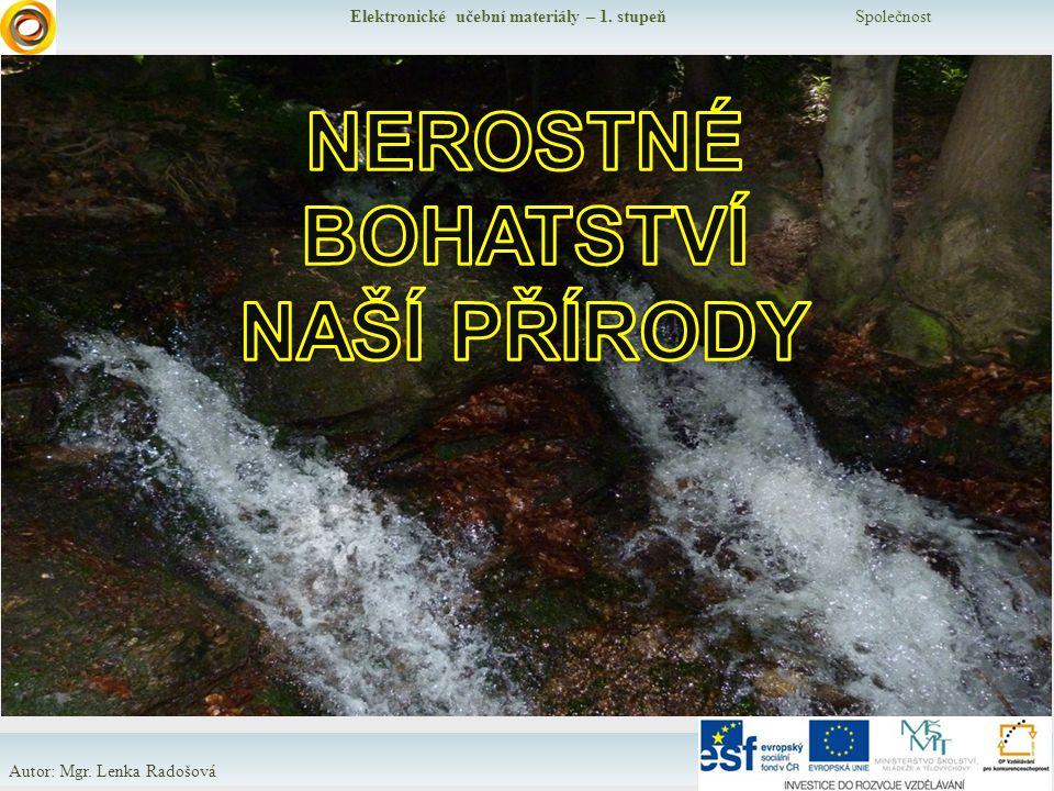 Elektronické učební materiály – 1. stupeň Společnost Autor: Mgr. Lenka Radošová