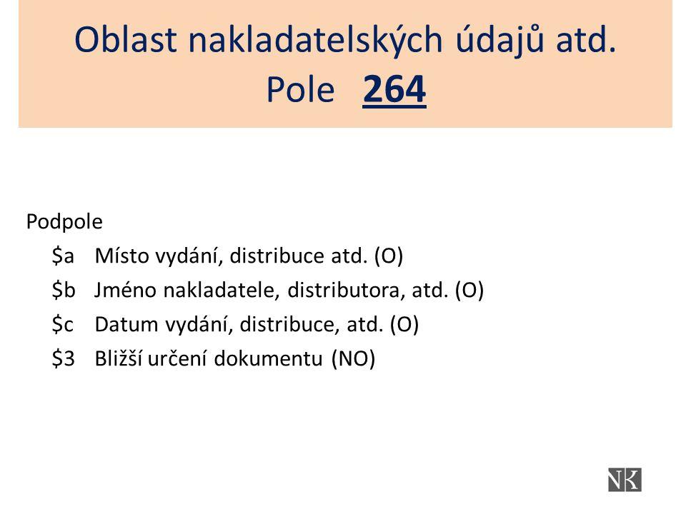 - i když je místo konání akce součástí názvu akce, v záhlaví se tento údaj vždy opakuje v podpoli $c správně podle RDA: 1112# $a Festival EuroArt Praha $d (10.