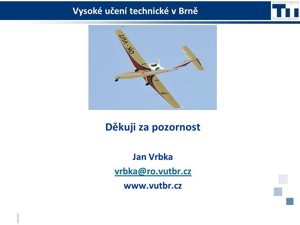 Vysoké učení technické v Brně Děkuji za pozornost Jan Vrbka vrbka@ro.vutbr.cz www.vutbr.cz