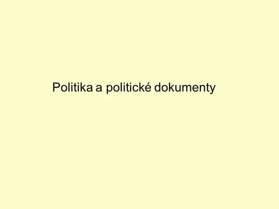 Politika a politické dokumenty