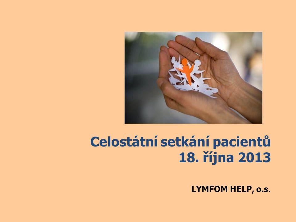 Celostátní setkání pacientů 18. října 2013 LYMFOM HELP, o.s.