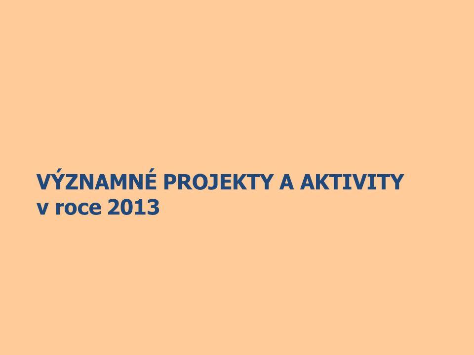 VÝZNAMNÉ PROJEKTY A AKTIVITY v roce 2013