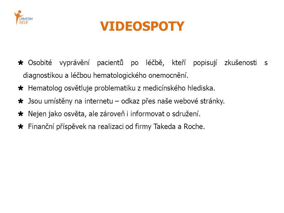 VIDEOSPOTY  Osobité vyprávění pacientů po léčbě, kteří popisují zkušenosti s diagnostikou a léčbou hematologického onemocnění.