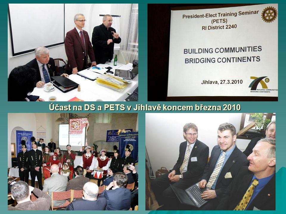Účast na DS a PETS v Jihlavě koncem března 2010