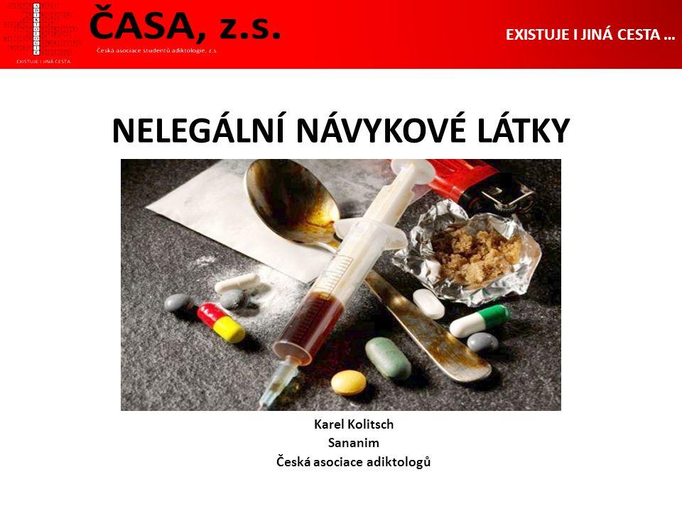 NELEGÁLNÍ NÁVYKOVÉ LÁTKY Karel Kolitsch Sananim Česká asociace adiktologů EXISTUJE I JINÁ CESTA …