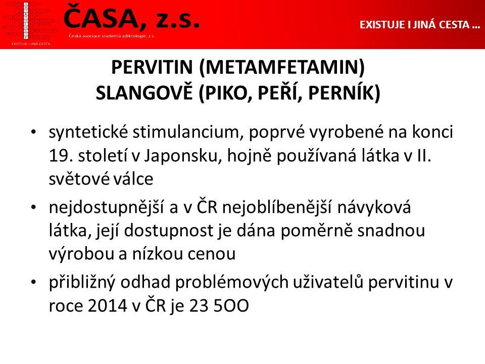 PERVITIN (METAMFETAMIN) SLANGOVĚ (PIKO, PEŘÍ, PERNÍK) syntetické stimulancium, poprvé vyrobené na konci 19.