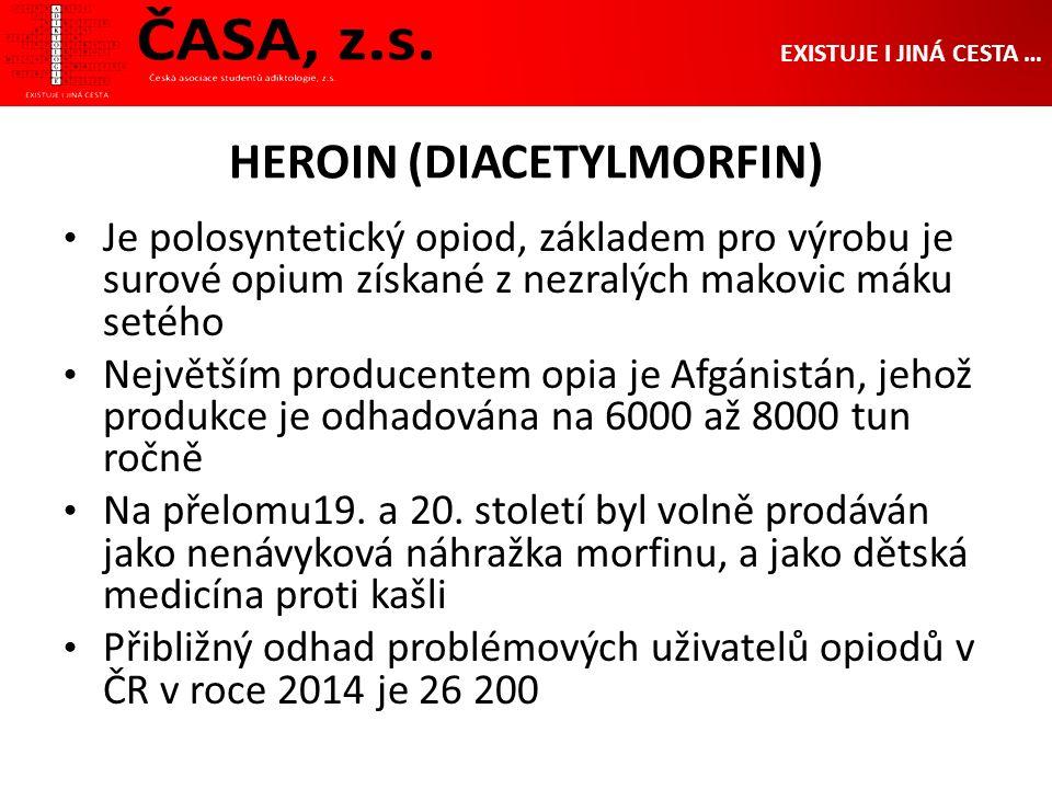 HEROIN (DIACETYLMORFIN) Je polosyntetický opiod, základem pro výrobu je surové opium získané z nezralých makovic máku setého Největším producentem opia je Afgánistán, jehož produkce je odhadována na 6000 až 8000 tun ročně Na přelomu19.