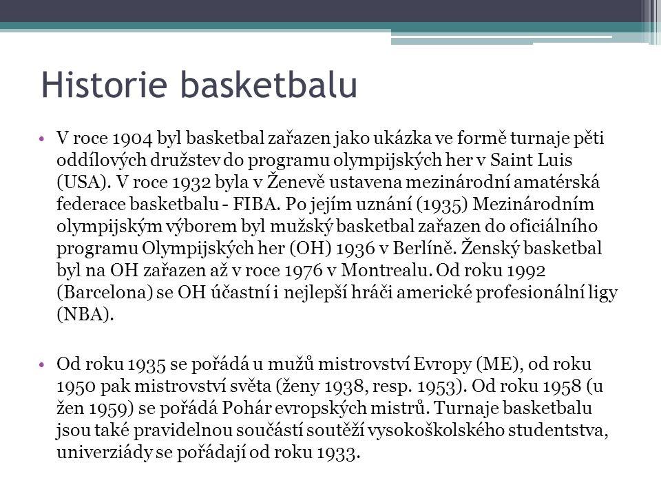 Rozvoj basketbalu v českých zemích Rozvoj basketbalu v českých zemích začal až po první světové válce.