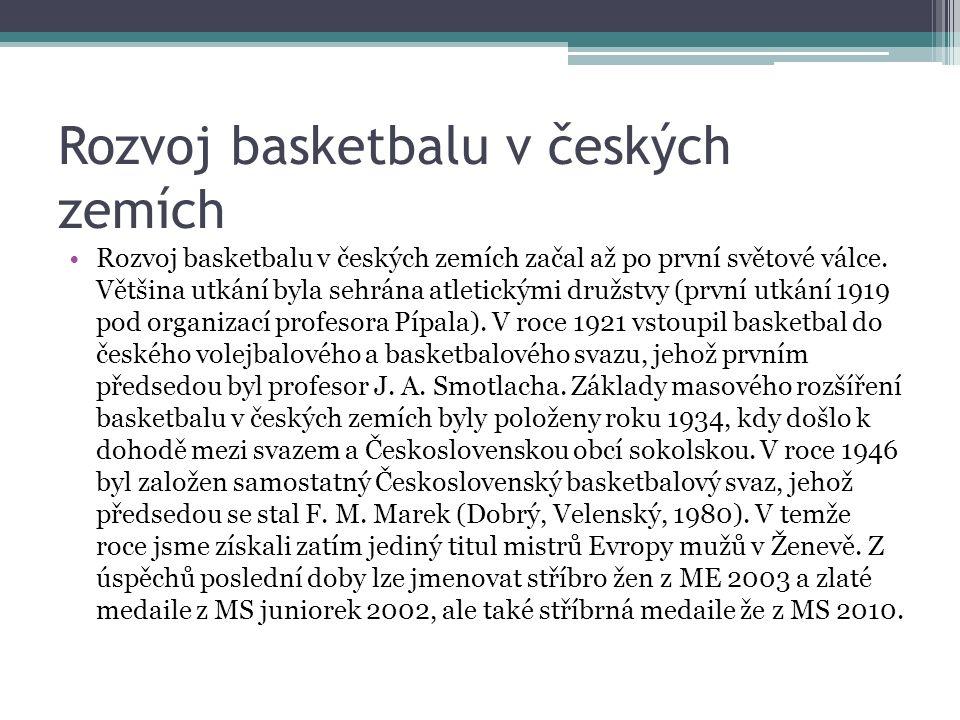 Struktura řídících složek V současné době patří basketbal mezi nejrozšfřenější a nejpopulárnějšf sporty na světě.