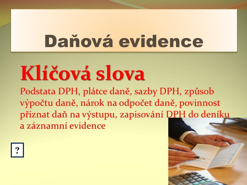 Daňová evidence .
