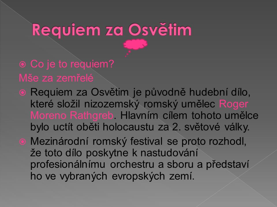  Co je to requiem.