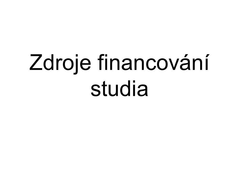 Zdroje financování studia
