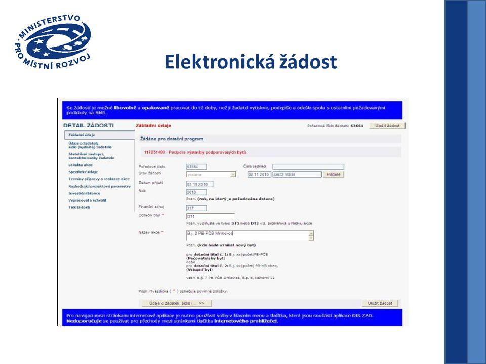 Elektronická žádost