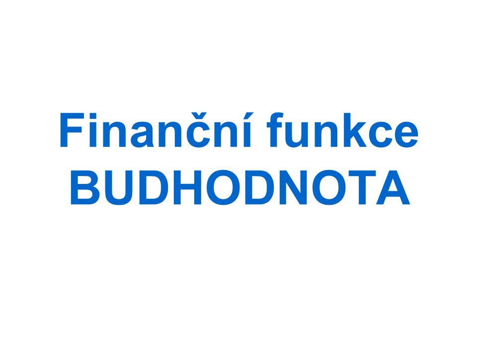 Finanční funkce BUDHODNOTA