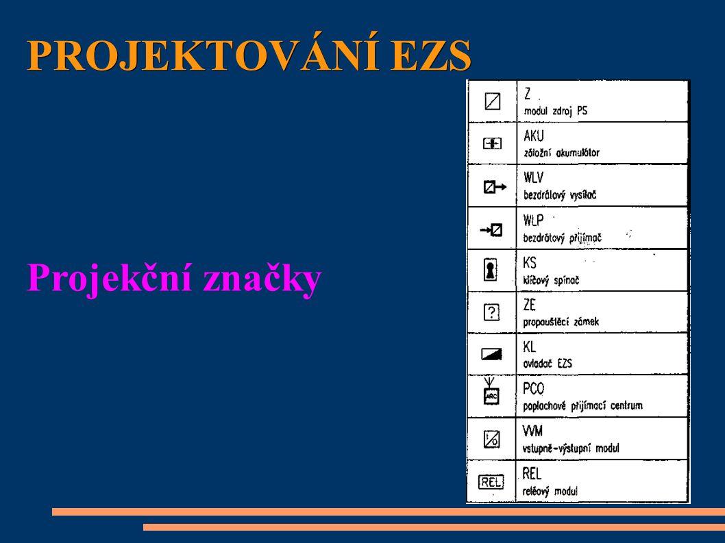 PROJEKTOVÁNÍ EZS Projekční značky
