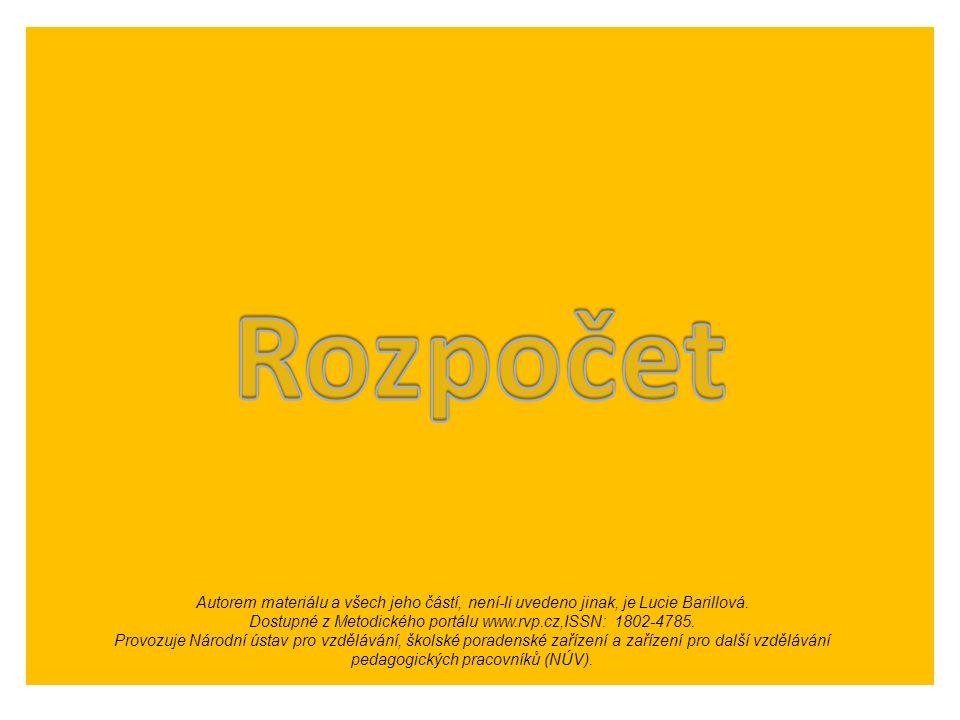 Autorem materiálu a všech jeho částí, není-li uvedeno jinak, je Lucie Barillová. Dostupné z Metodického portálu www.rvp.cz,ISSN: 1802-4785. Provozuje
