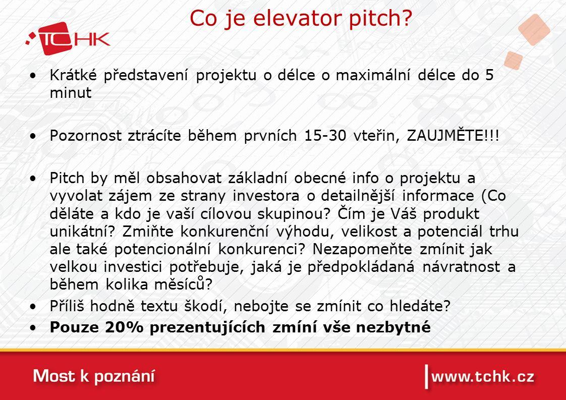 Co je elevator pitch.
