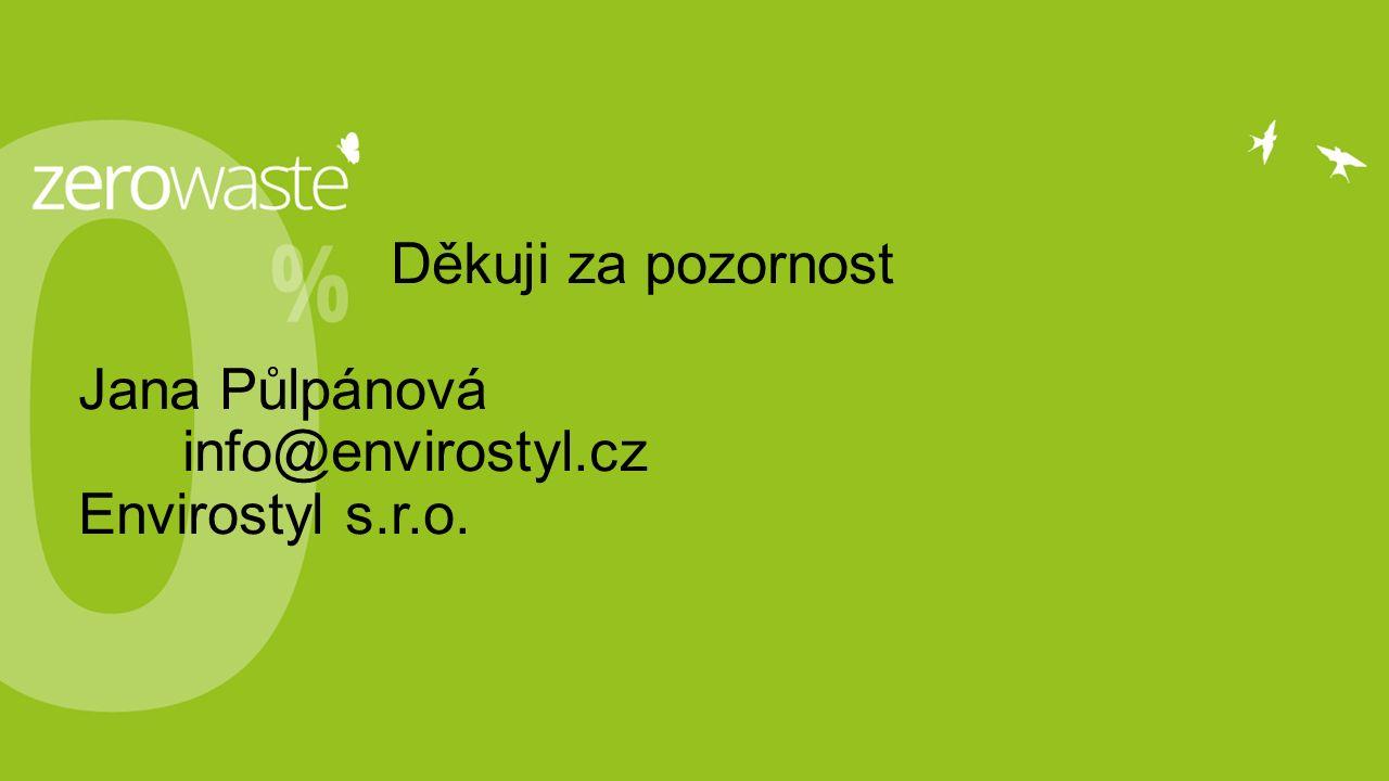 Děkuji za pozornost Jana Půlpánová info@envirostyl.cz Envirostyl s.r.o.