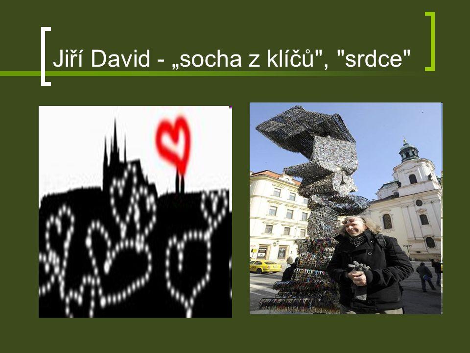 """Jiří David - """"socha z klíčů , srdce"""