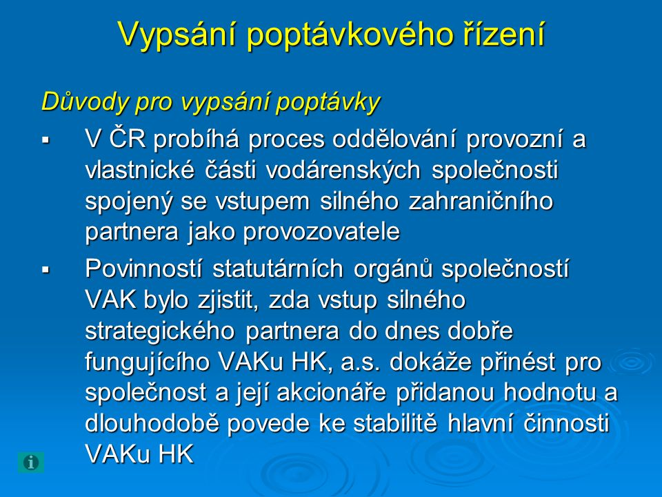 Oslovené společnosti  ONDEO Services CZ s.r.o. Veolia Water Česká Republika s.r.o.