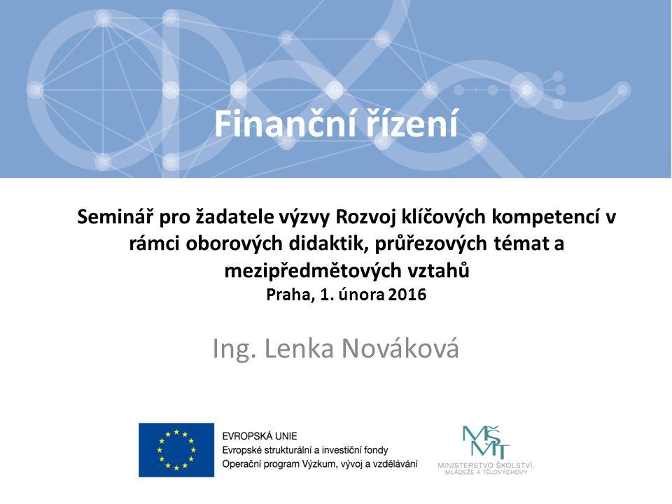 Obsah Způsobilé výdaje Rozpočet projektu – Osobní výdaje – Paušální náklady – Nezpůsobilé výdaje – Finanční plán v IS KP14+ Hodnotící kritéria 2