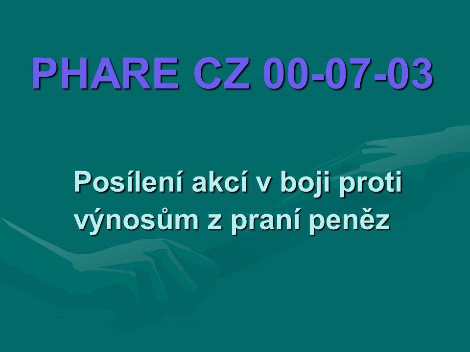 PHARE CZ 00-07-03 Posílení akcí v boji proti výnosům z praní peněz