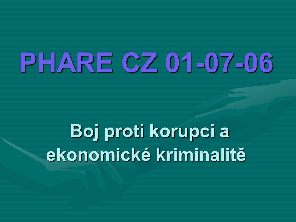 PHARE CZ 01-07-06 Boj proti korupci a ekonomické kriminalitě