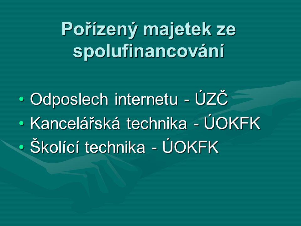 Pořízený majetek ze spolufinancování Odposlech internetu - ÚZČOdposlech internetu - ÚZČ Kancelářská technika - ÚOKFKKancelářská technika - ÚOKFK Školí