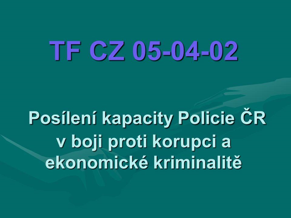 TF CZ 05-04-02 Posílení kapacity Policie ČR v boji proti korupci a ekonomické kriminalitě