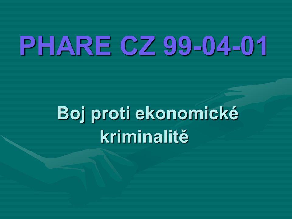 PHARE CZ 99-04-01 Boj proti ekonomické kriminalitě