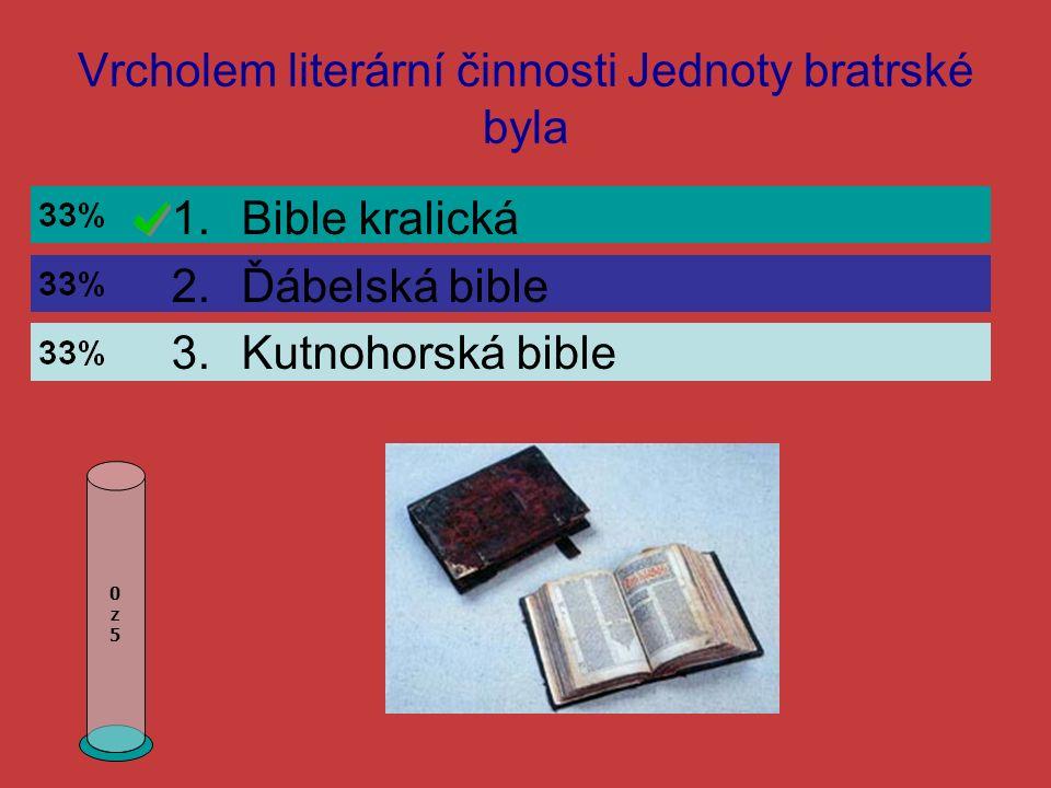 Renesanční díla byla psaná 0z50z5 1.Latinsky a česky 2.Latinsky a německy 3.Pouze česky