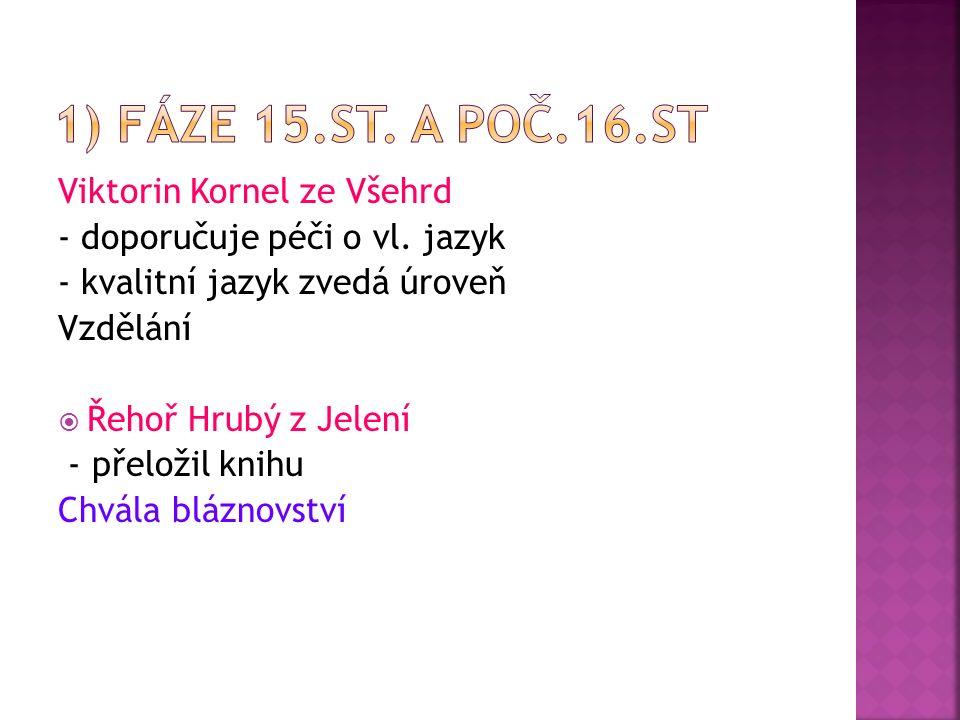 Viktorin Kornel ze Všehrd - doporučuje péči o vl.