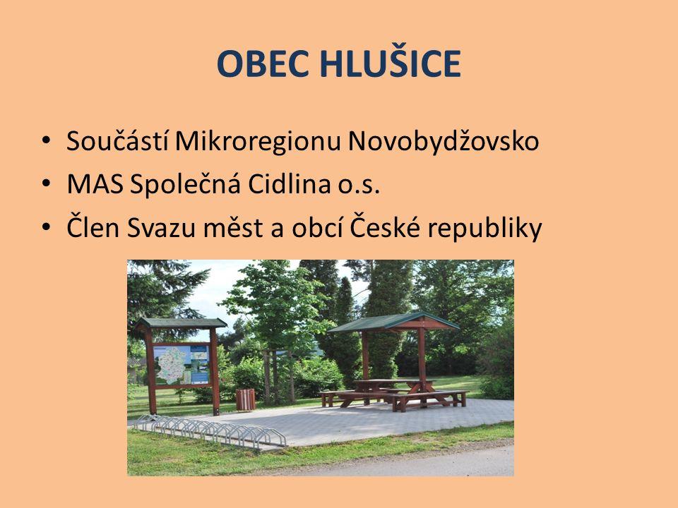 OBEC HLUŠICE Součástí Mikroregionu Novobydžovsko MAS Společná Cidlina o.s.
