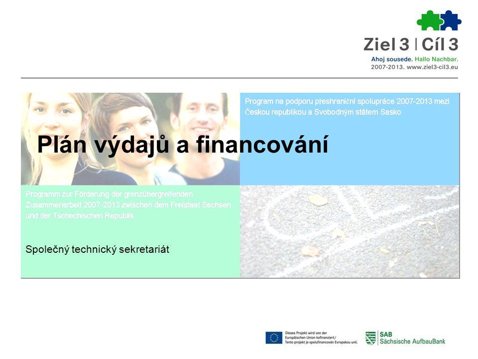 Plán výdajů a financování Společný technický sekretariát