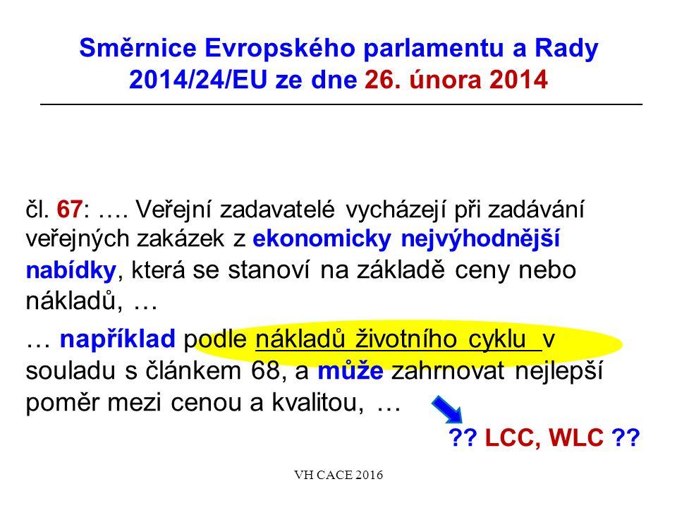 Směrnice Evropského parlamentu a Rady 2014/24/EU ze dne 26.